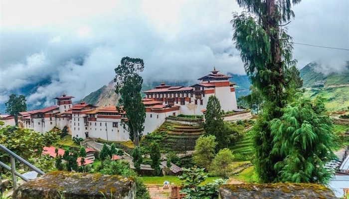 View of Trongsa Dzong during your Bhutan Trip