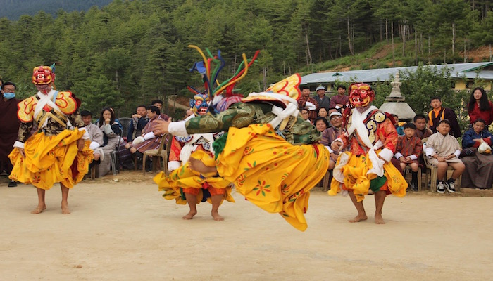 Mask Dance during Bhutan Festival Tour